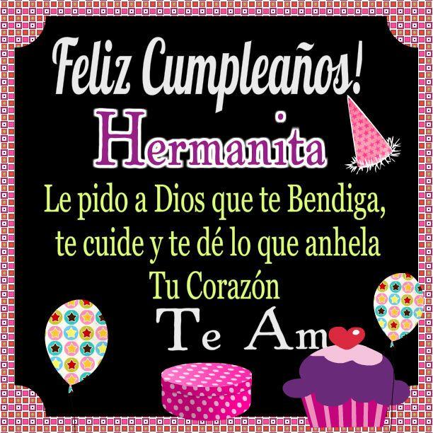 Felicidades Hermana Feliz Cumpleaños Feliz Cumpleaños