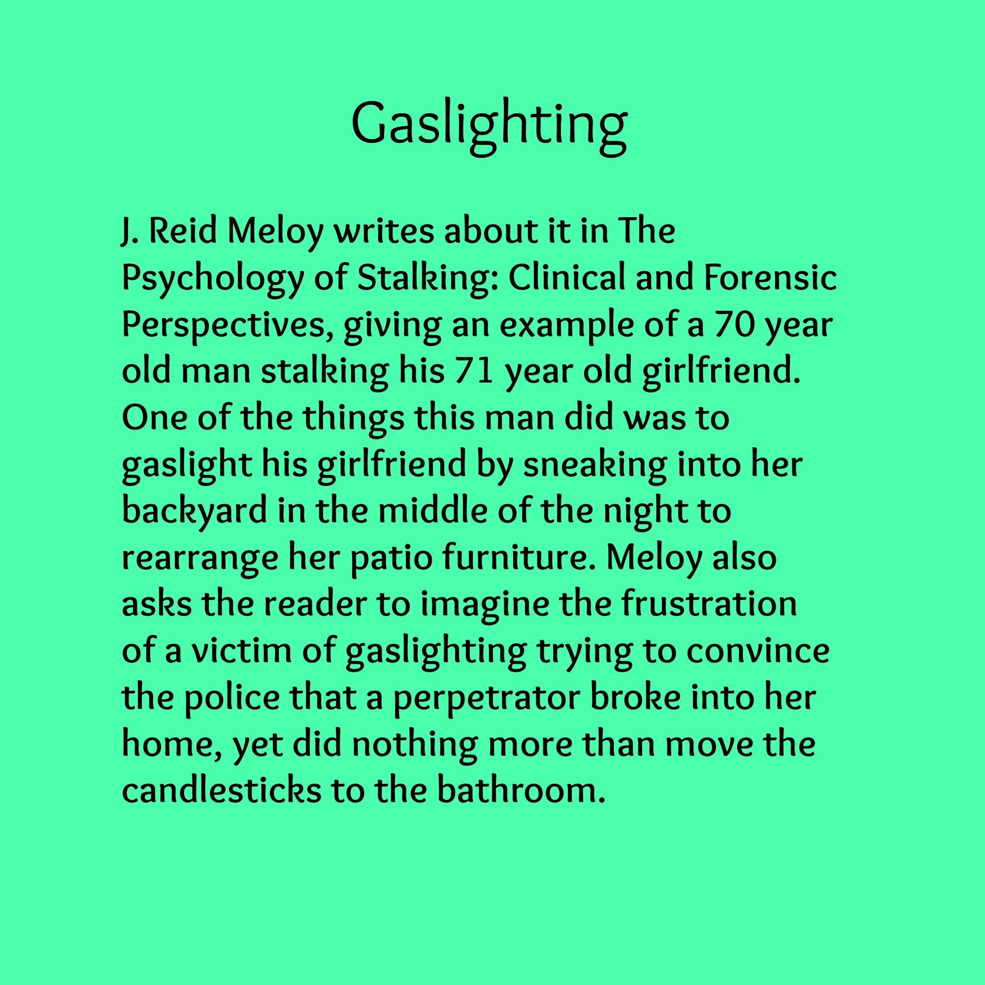 Gaslighting phrases