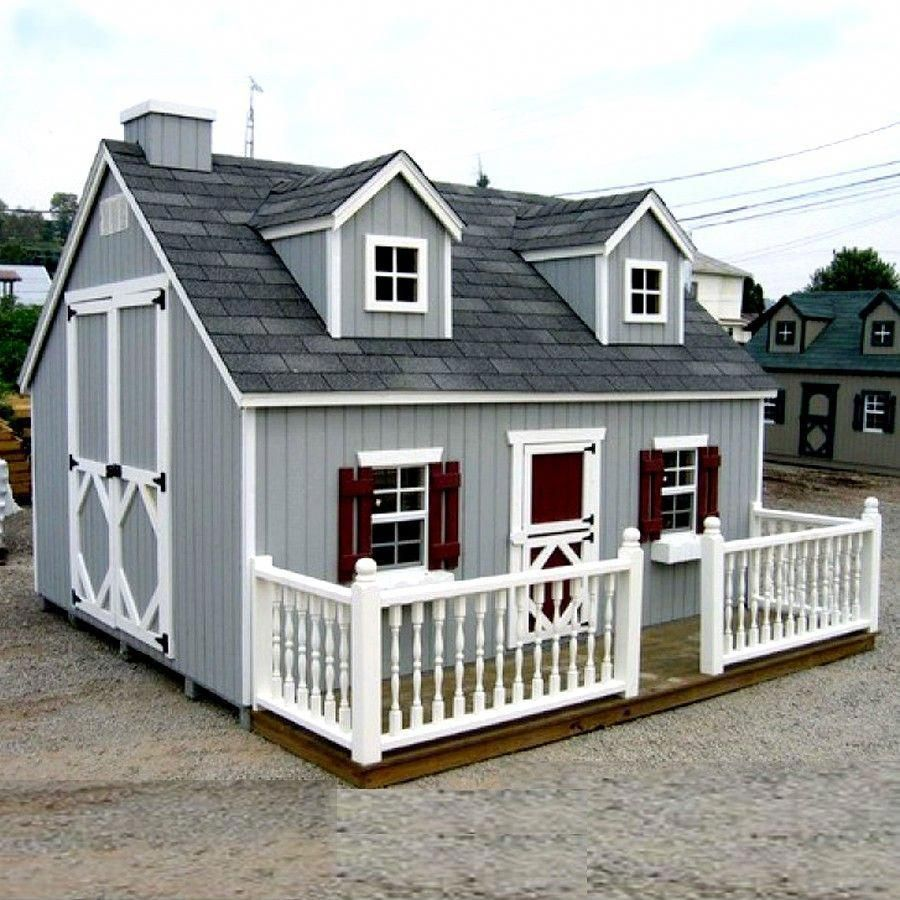 Amish Made 8x8 Ft. Cape Cod Playhouse Kit
