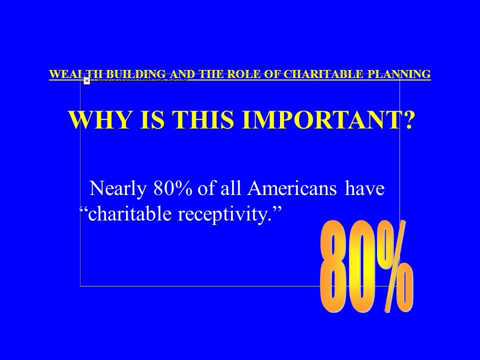 health wealth and providence | WHAT IS THE ROLE OF CHARITABLE PLANNING IN WEALTH BUILDING? WEALTH ...