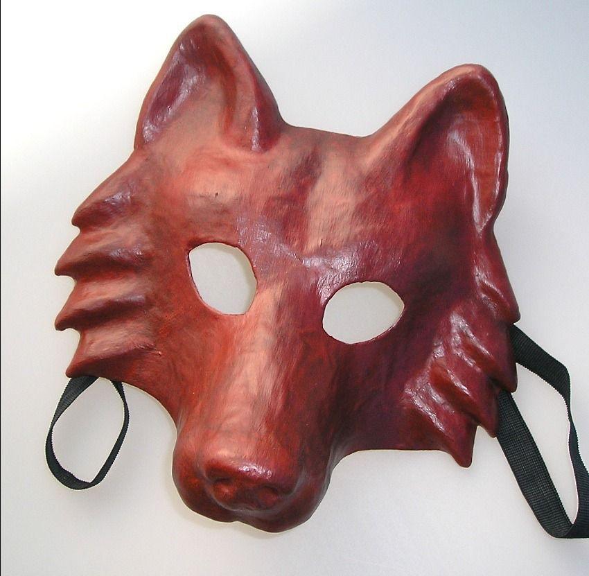 Masque De Loup En Papier Maché De Fabrication Artisanale