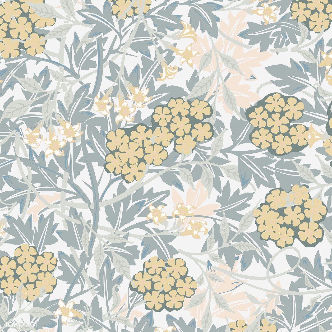 Download Premium Vector Of Vintage Illustration Of Jasmine 496116 Vintage Illustration William Morris Patterns Leaf Illustration
