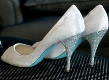 Christian Louboutin Blue Sole Bridal Shoes...one Can Dream.
