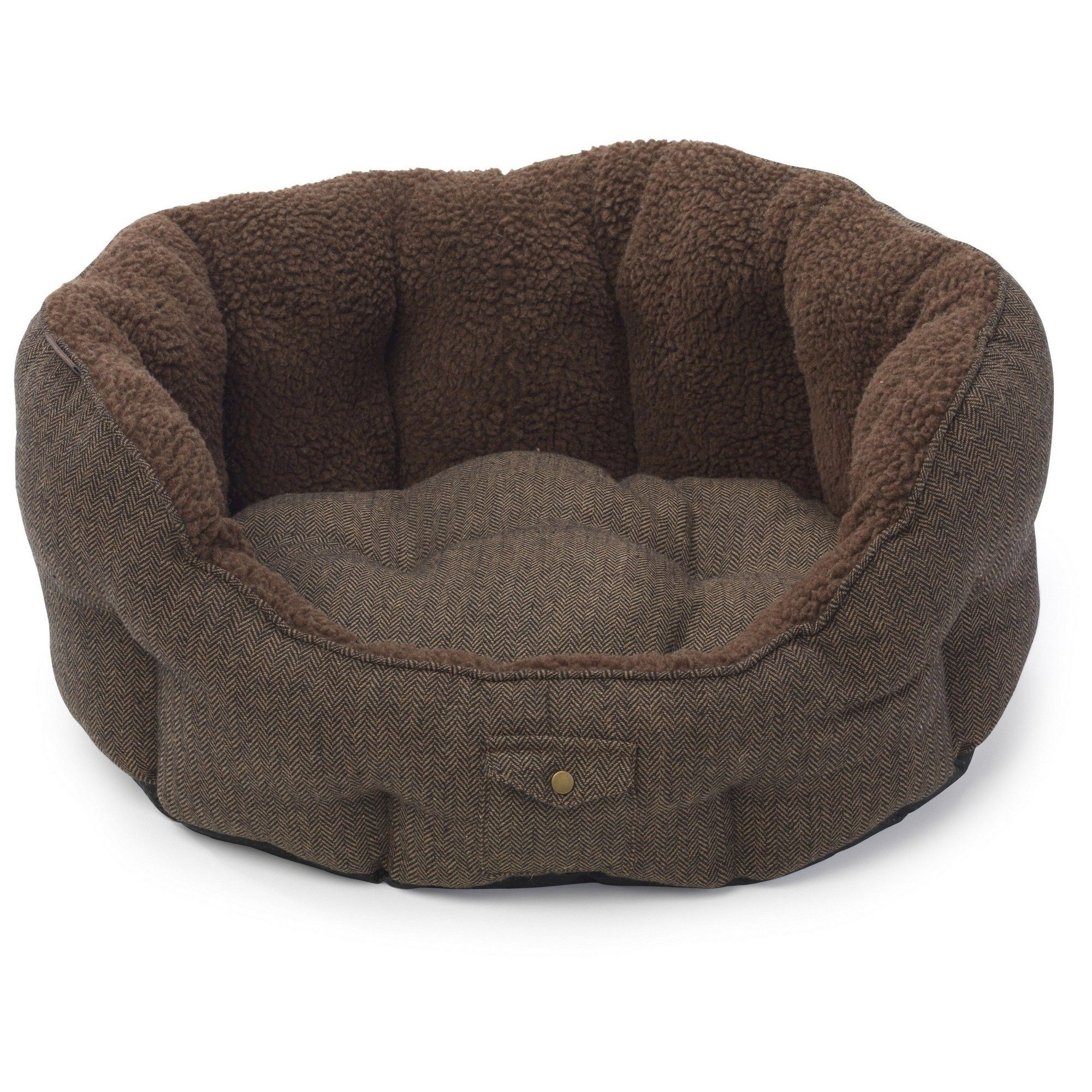 House Of Paws Harris Tweed Oval Pet Bed Large Oval Dog Bed