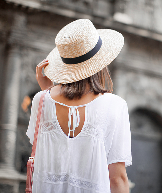 Straw Hat Outfit Inspiration and Products for Summer 2016 | paired with a boho blouse on @fashionagony