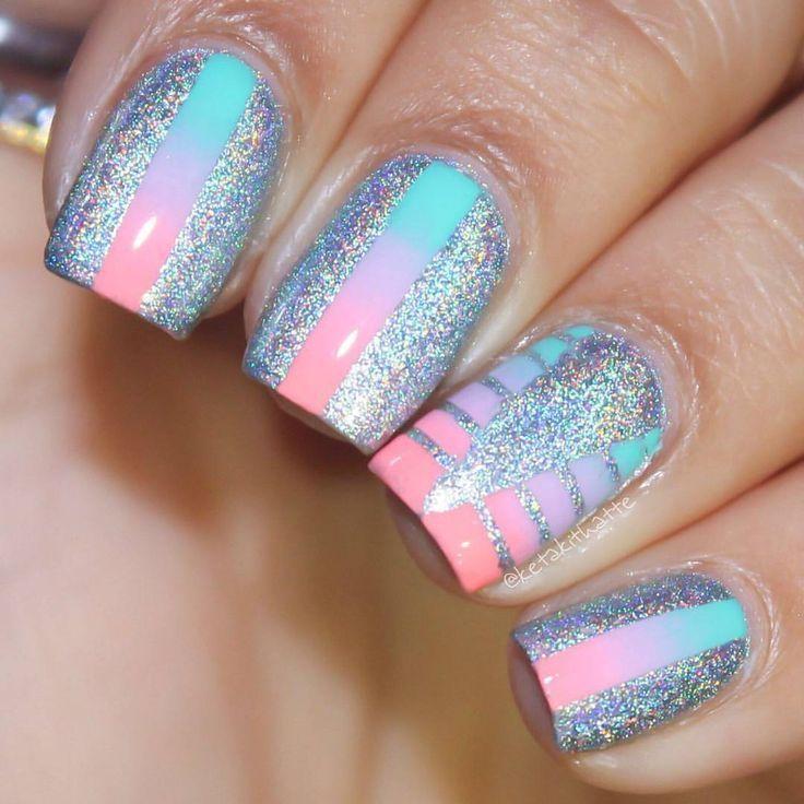 Metallic pastels | Nail Art | Pinterest | Pretty nails, Makeup and ...