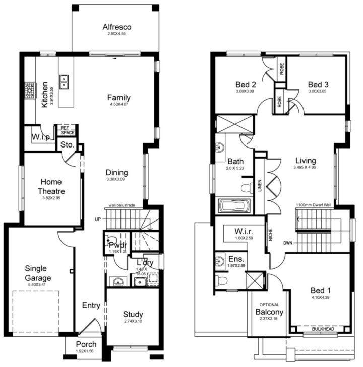 Planos de casas de dos pisos modernas descubre c mo for Niveles en planos arquitectonicos