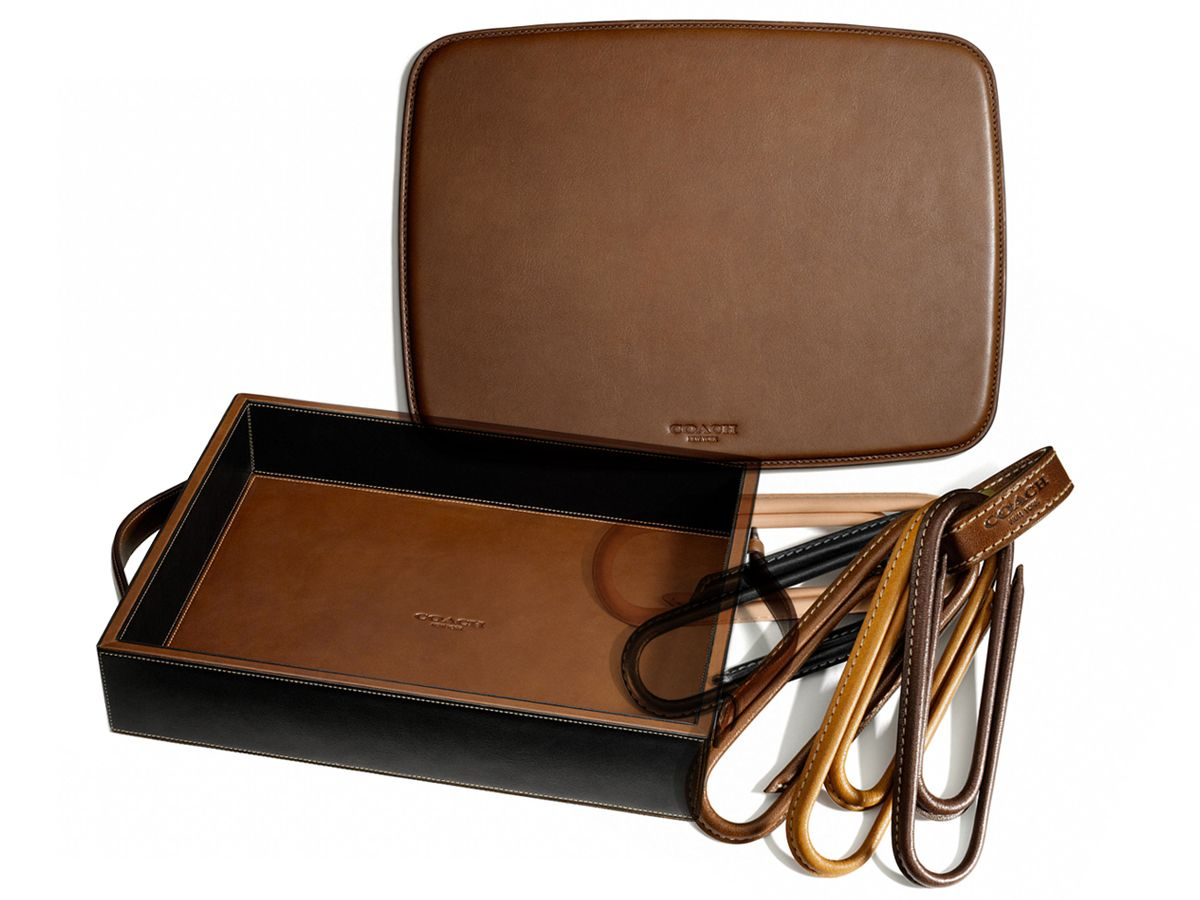 Coach Leather Desk Accessories
