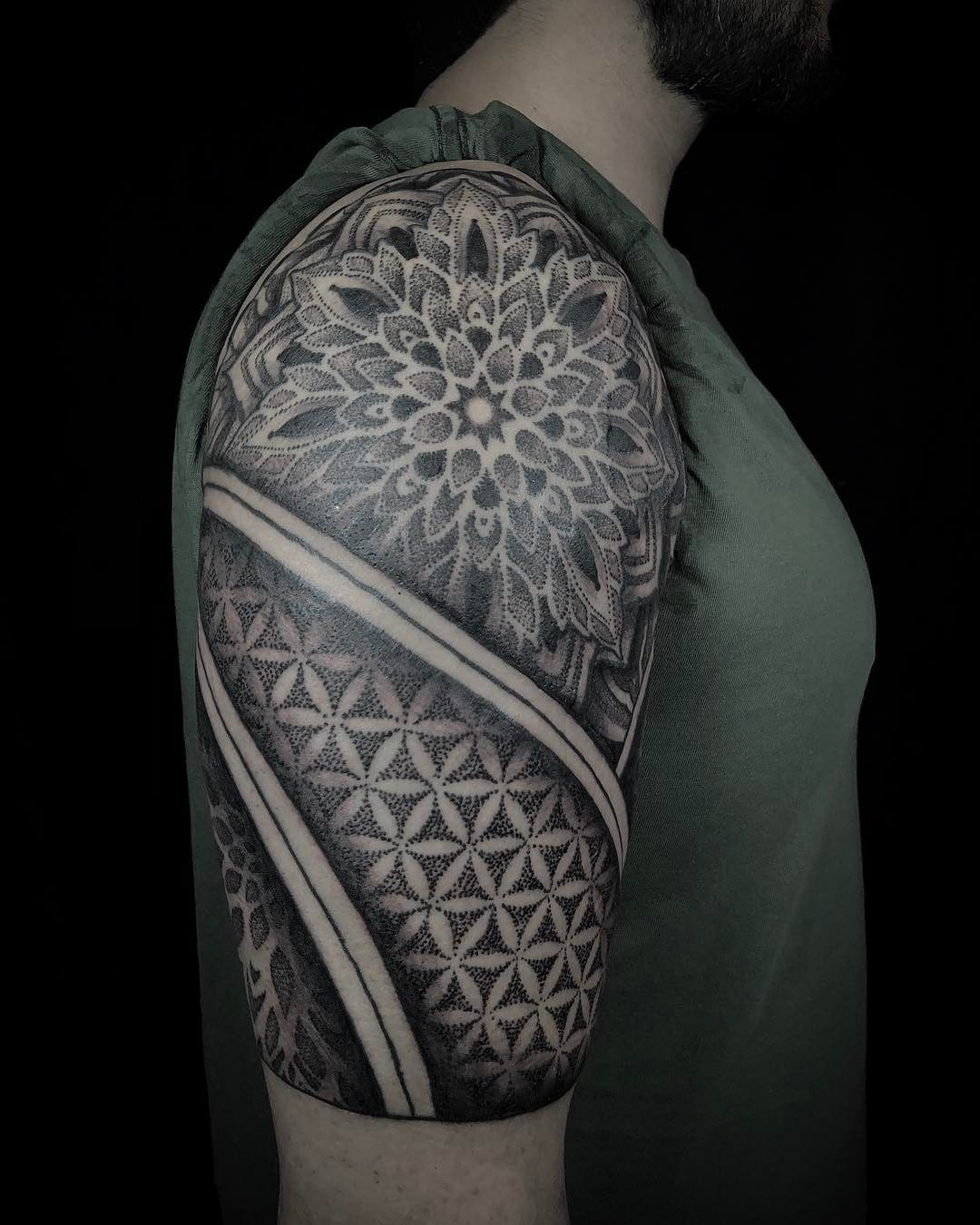 Finished half sleeve today symmetry organic