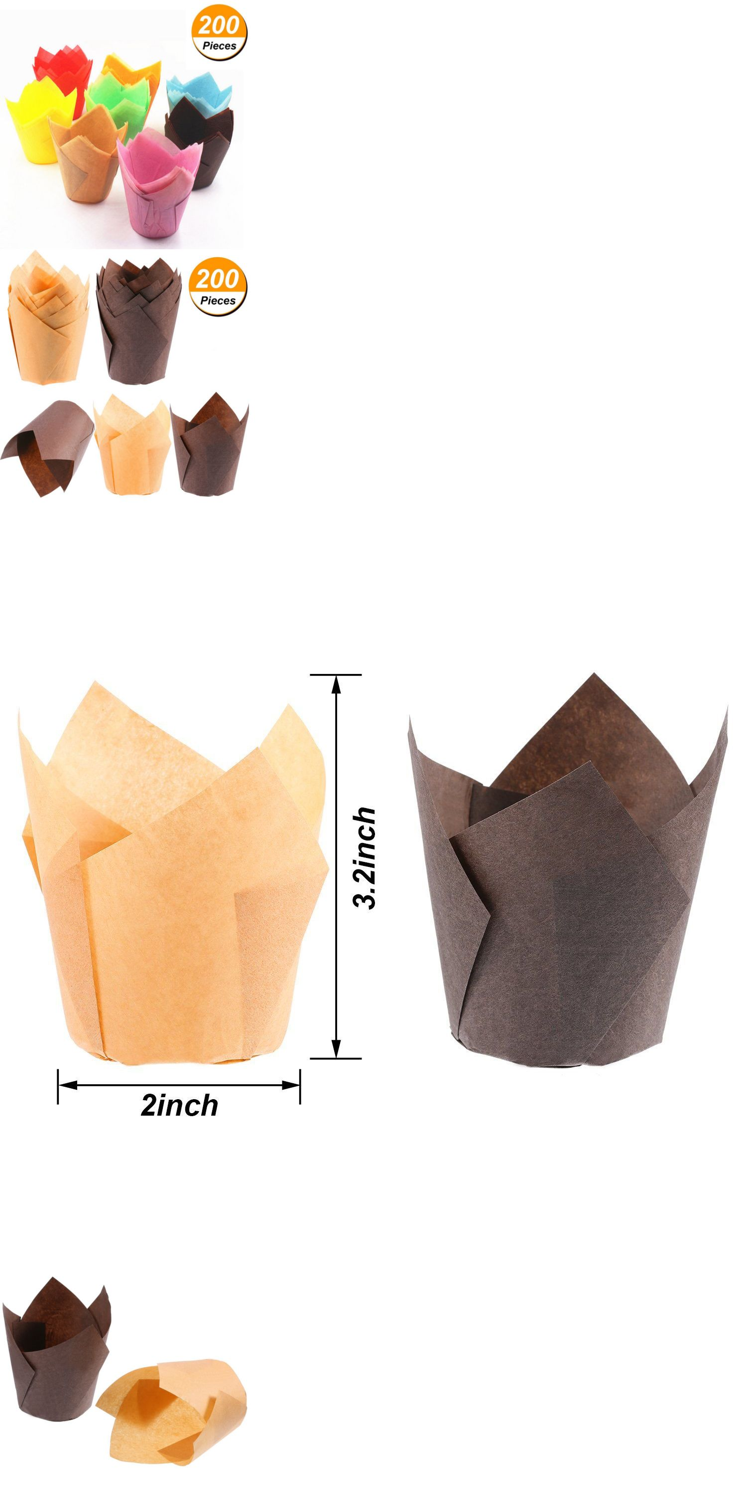 Baking Cups And Liners 177012 200pcs Tulip Baking Cups Liner Paper Cupcake Wrapper Liner Muffin Case Paper Cup Buy It Now Only With Images Paper Cupcake Cupcake Wraps
