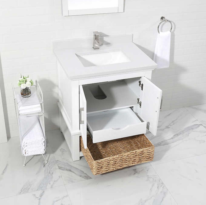 Single Sink Bath Vanity For Under 400 30 Vanity Vanity Wicker Baskets