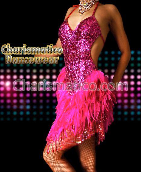 Charismatico Dancewear Store - FUCHSIA CUSTOM Feather DRAG SALSA VEGAS EXOTIC STAGE dance dress, $130.00 (http://www.charismatico-dancewear.com/products/FUCHSIA-CUSTOM-Feather-DRAG-SALSA-VEGAS-EXOTIC-STAGE-dance-dress.html)