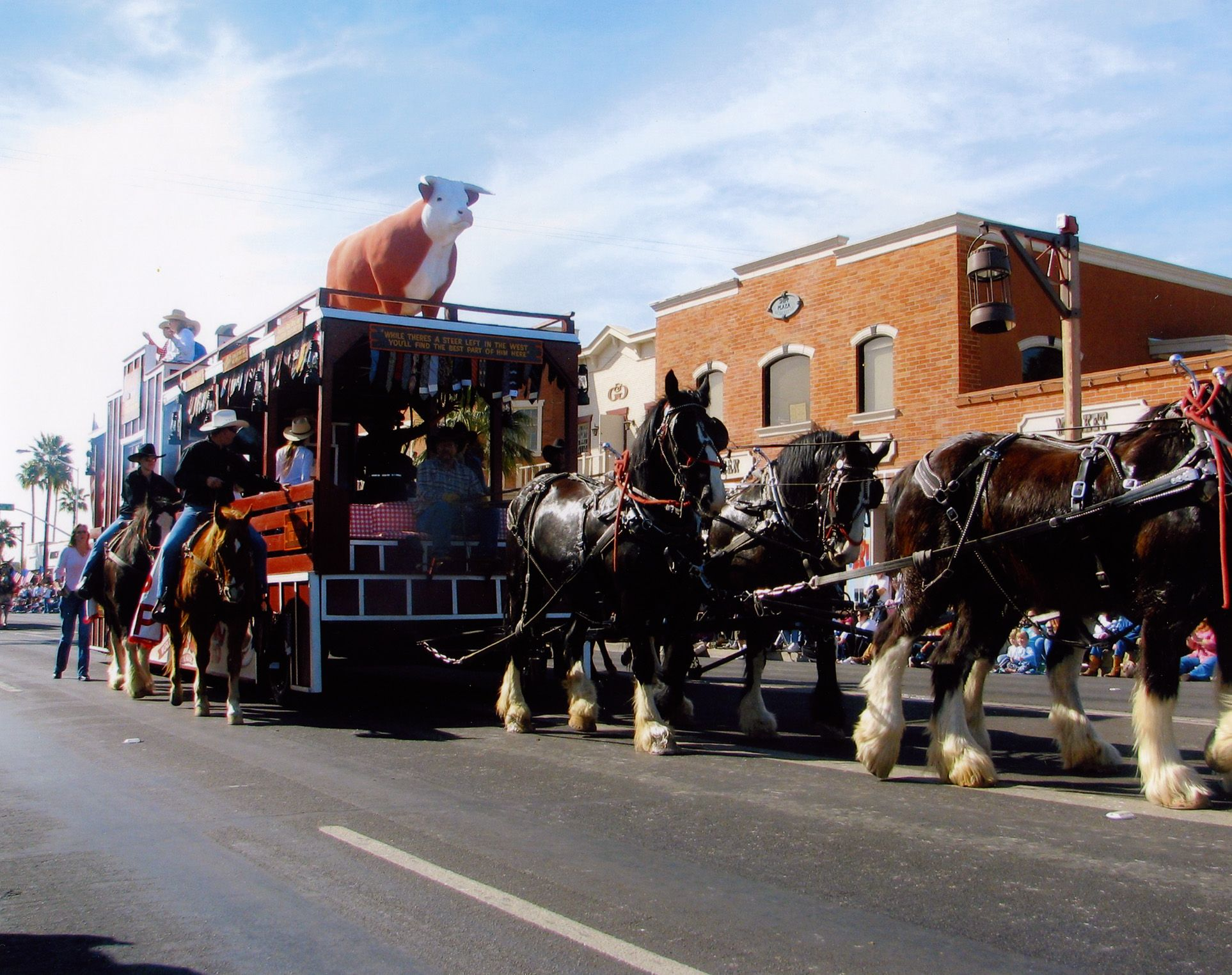 A Photo Of The Pinnacle Peak Patio Steakhouse Float In The Parade Del Sol  Parade In