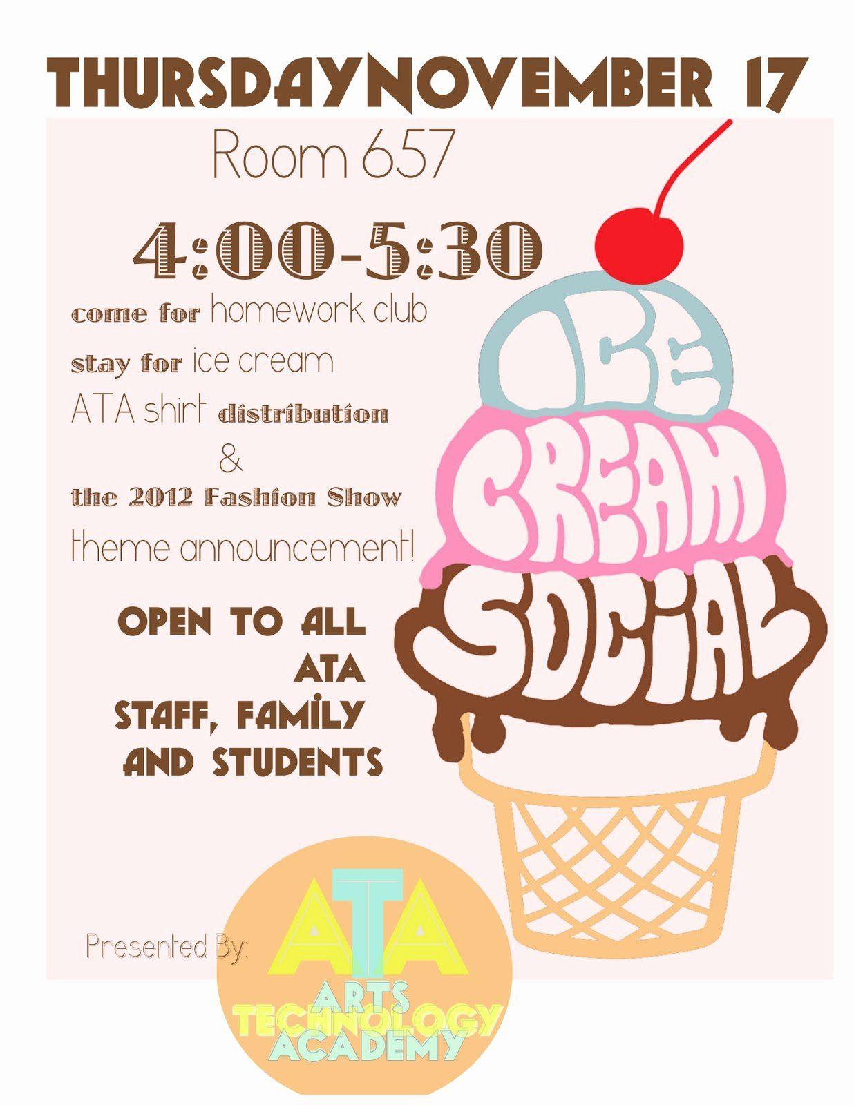 Free Ice Cream Social Flyer Template Elegant Free Ice Cream Social Invites Ice Cream Social Ice Cream Social Invitations Ice Cream Business