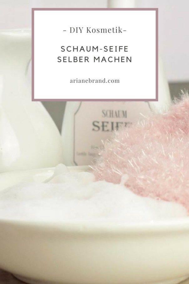 diy kosmetik schaumseife selber herstellen diy ideen auf deutsch pinterest. Black Bedroom Furniture Sets. Home Design Ideas