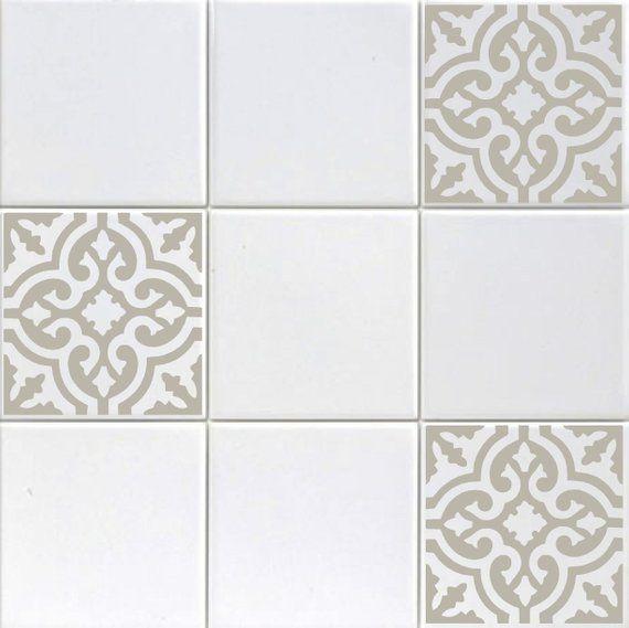 Vinyl Tile Decals Accent Stickers, Bathroom Tile Decals Uk