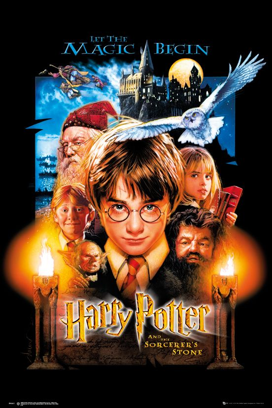 Harry Potter And The Sorcerer S Stone Movie Poster Print Us Regular Style Size 24 X 36 Walmart Com In 2021 Harry Potter Poster Harry Potter Movie Posters Poster Prints