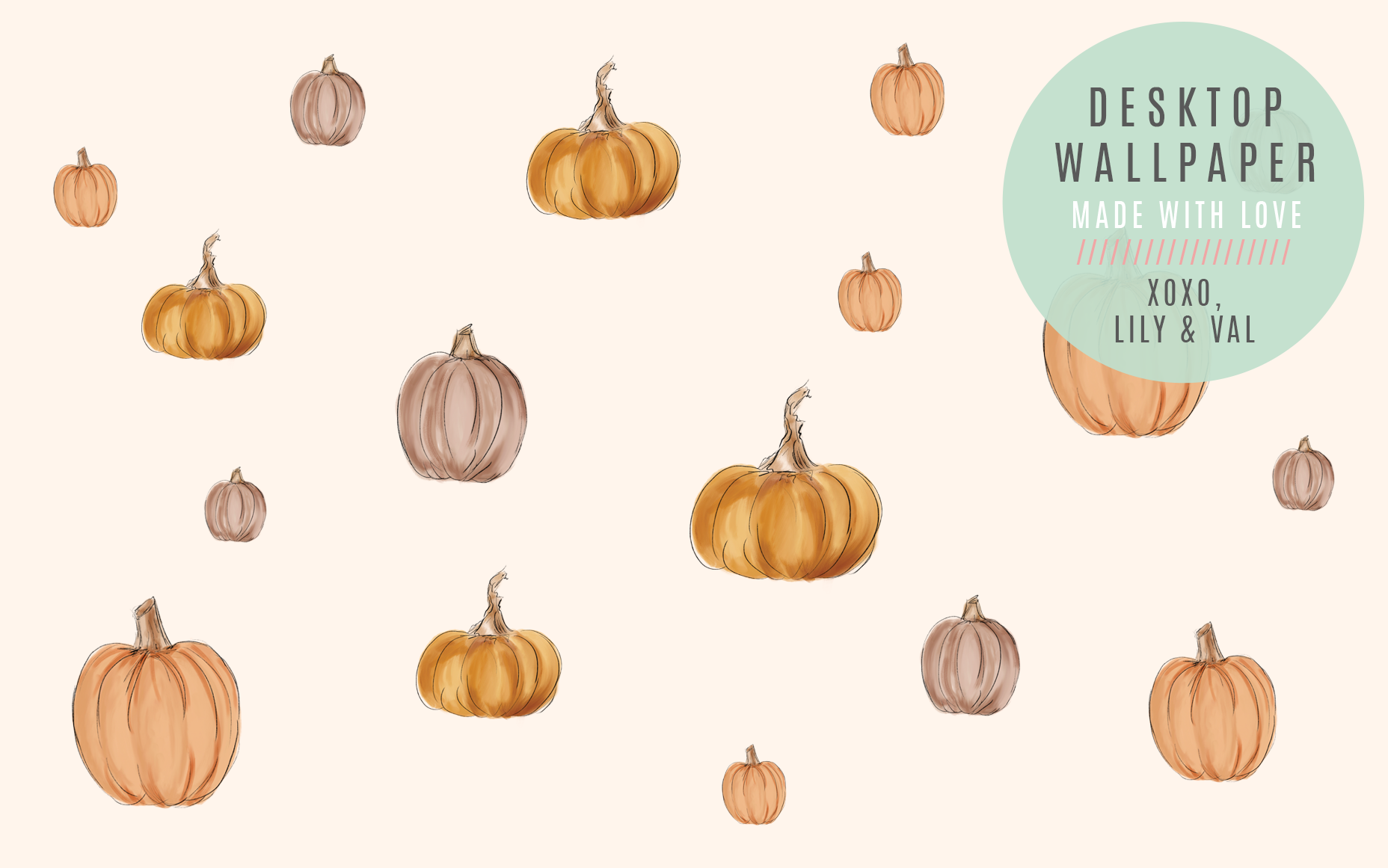 Cute Hand Drawn Pumpkin Desktop Computer Background For Fall Autumn Fall Desktop Backgrounds Cute Desktop Wallpaper Halloween Desktop Wallpaper