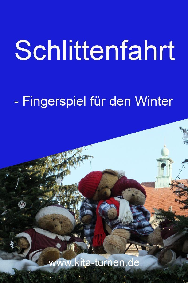 Fingerspiel für den Winter im Kindergarten - Schlittenfahrt