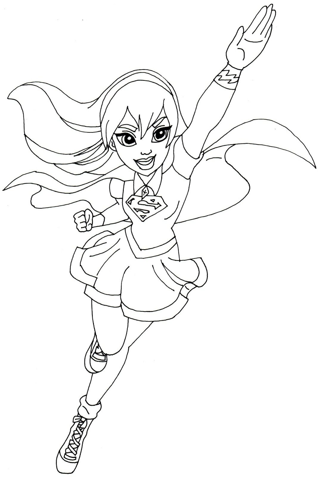 Supergirl Super Hero High Coloring Page