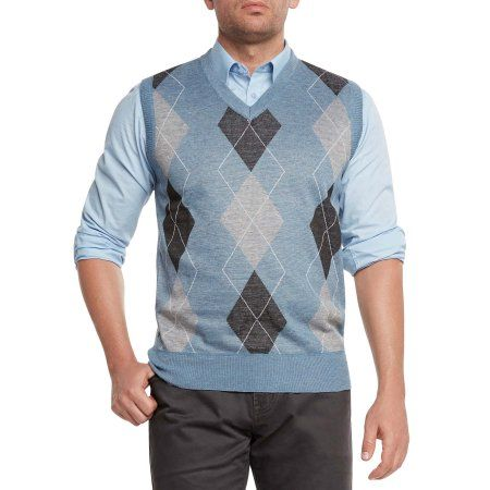Free Shipping. Buy True Rock Men's Argyle V-Neck Sweater Vest at ...