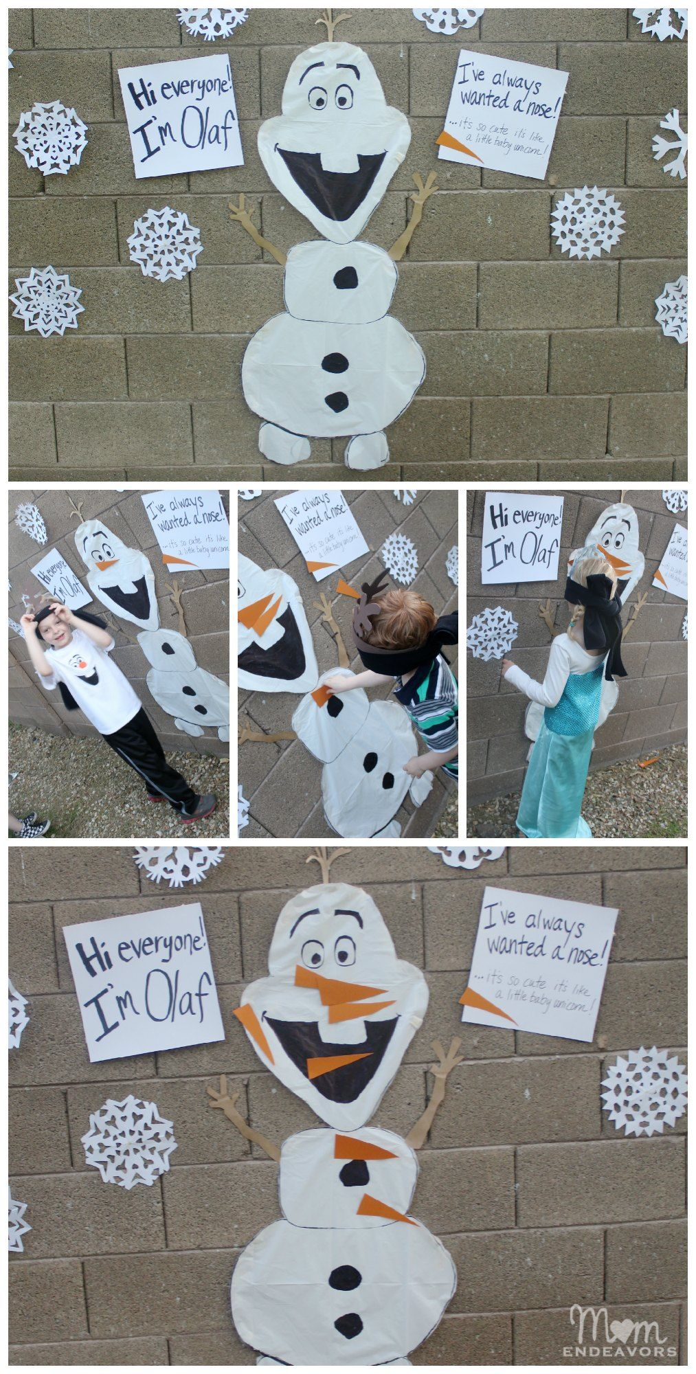 Pin the Nose on Olaf Frozen Party Game #Frozen #KidParties #Disney This is for Alyssa ️ ️