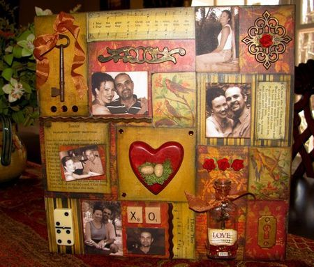 Story telling collage your love story on canvas for Michaels arts and crafts queens