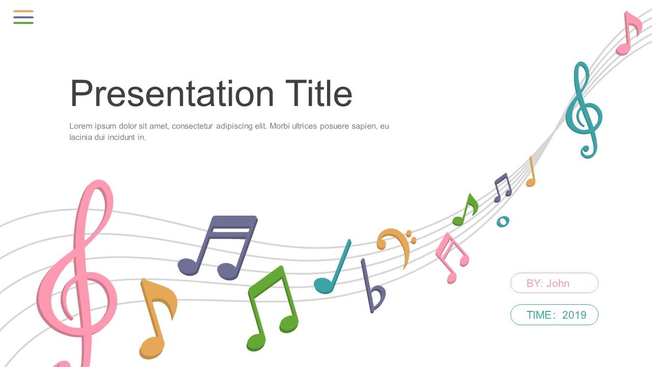 Beautiful Music Theme Powerpoint Templates Powerpoint Design Templates Powerpoint Templates Powerpoint Template Free