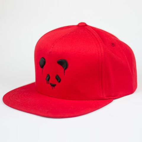 11811bacd05 Deorro SnapBack Red w  Black Panda Funk logo