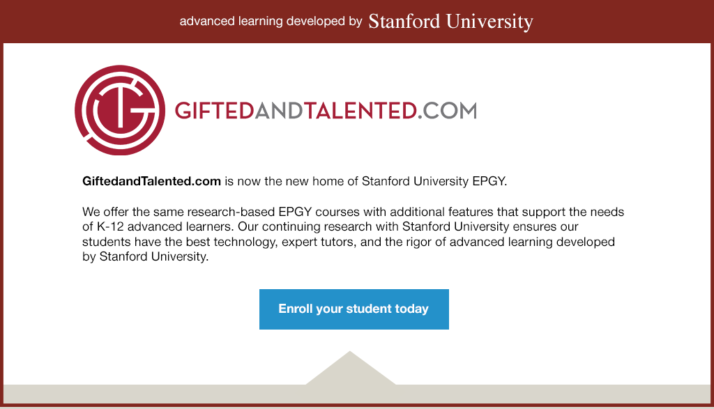 Stanford EPGY - Education Program for Gifted Youth