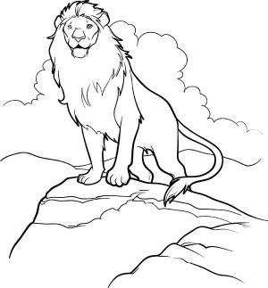 Aslan Come Out From Narnia Chronicles Of Narnia Coloring Page