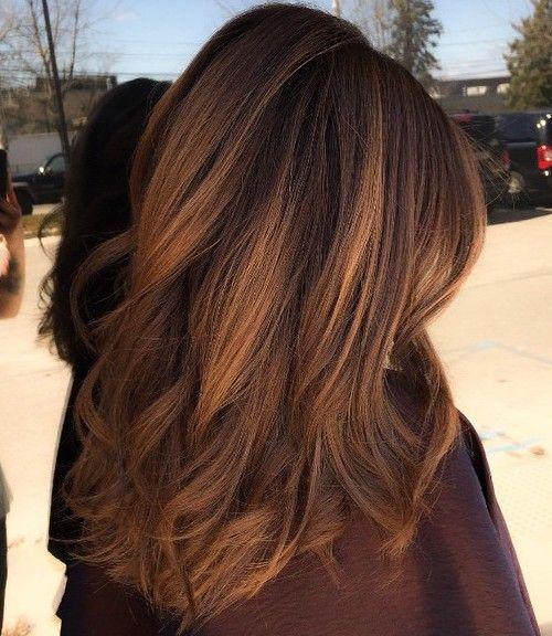 Dark brown hair with golden brown balayage hairstyle pinterest dark brown hair with golden brown balayage pmusecretfo Images