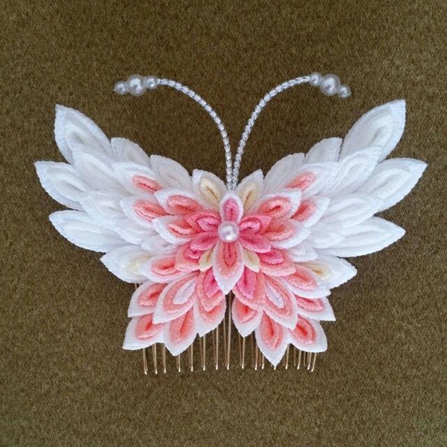 蝶々 髪 飾り
