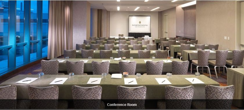 The Conference Room Of The Intercontinental San Francisco Room Setup Conference Room Room