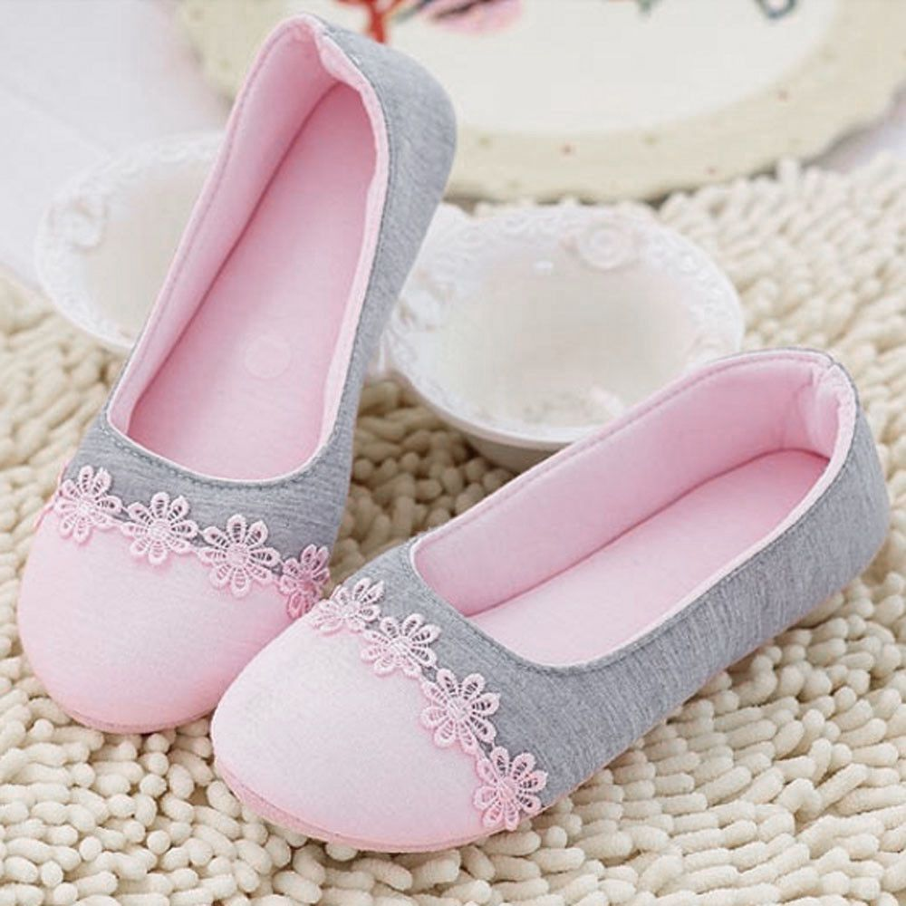 78594300e78 Women Warm Soft Home Slippers Spliced Pregnant Lady Shoes Antiskid Yoga  Shoes