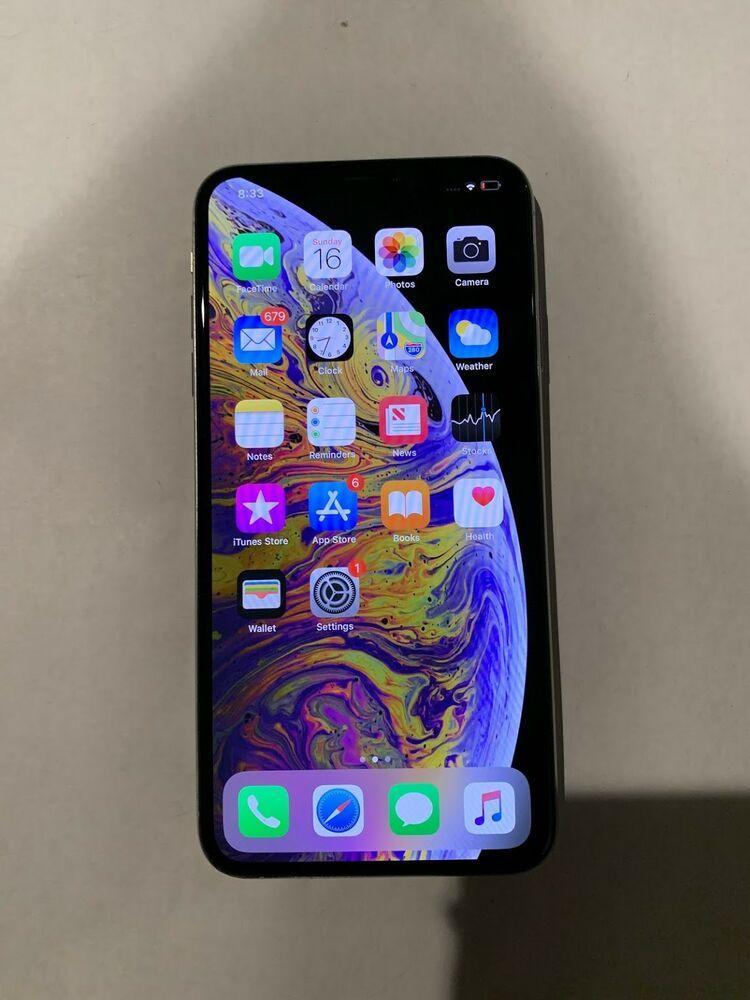 Apple iphone xs max 64gb silver unlocked verizon a