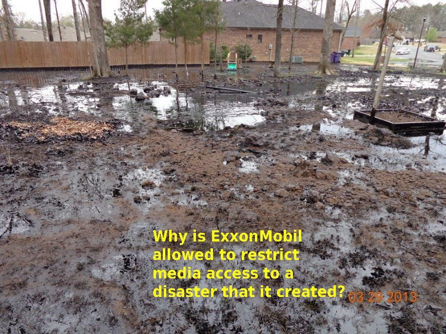 Exxon! You can't hide from this mess! Oil spill, May