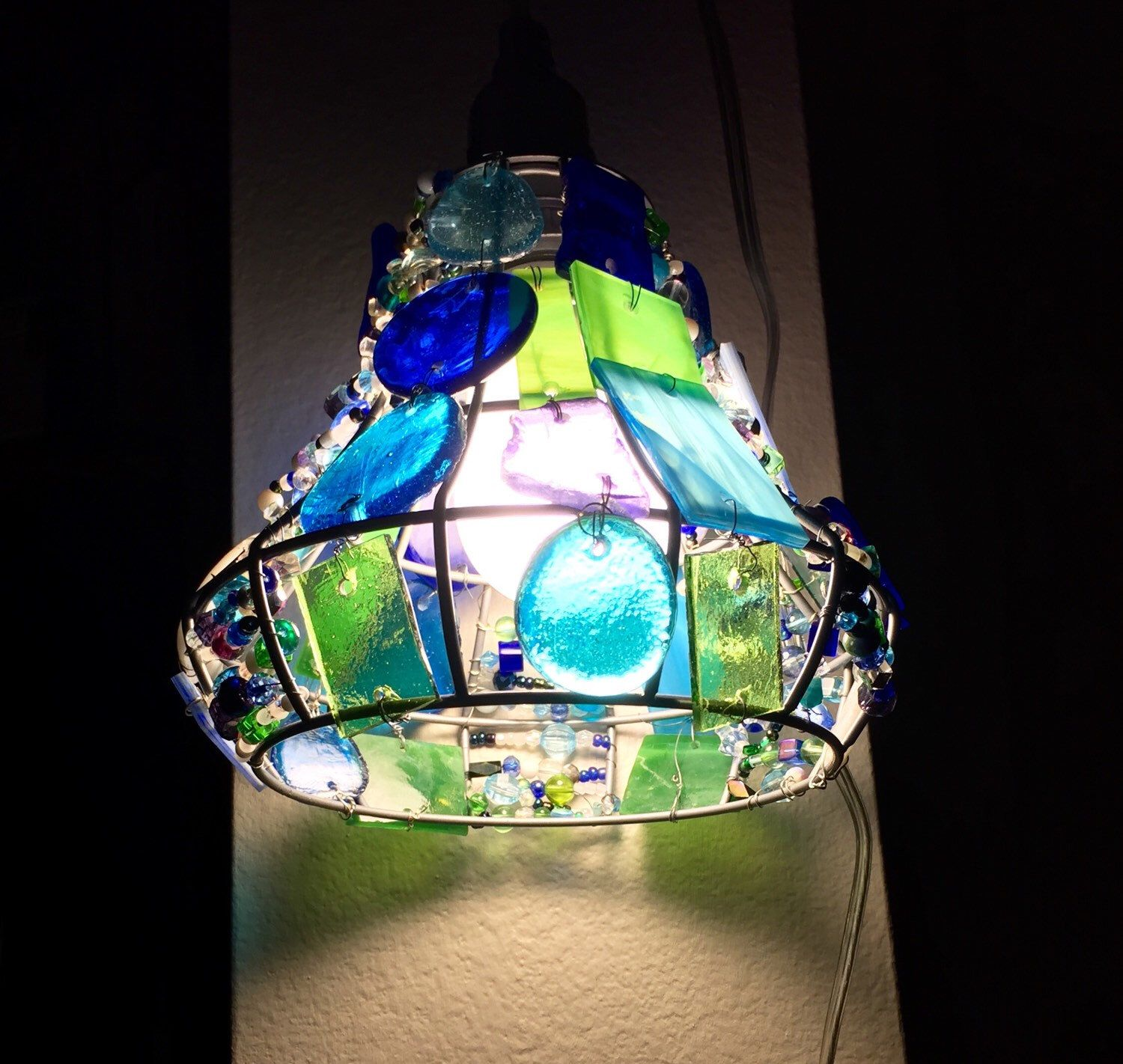 in shop stained single divina at nickel pd glass brushed pendant