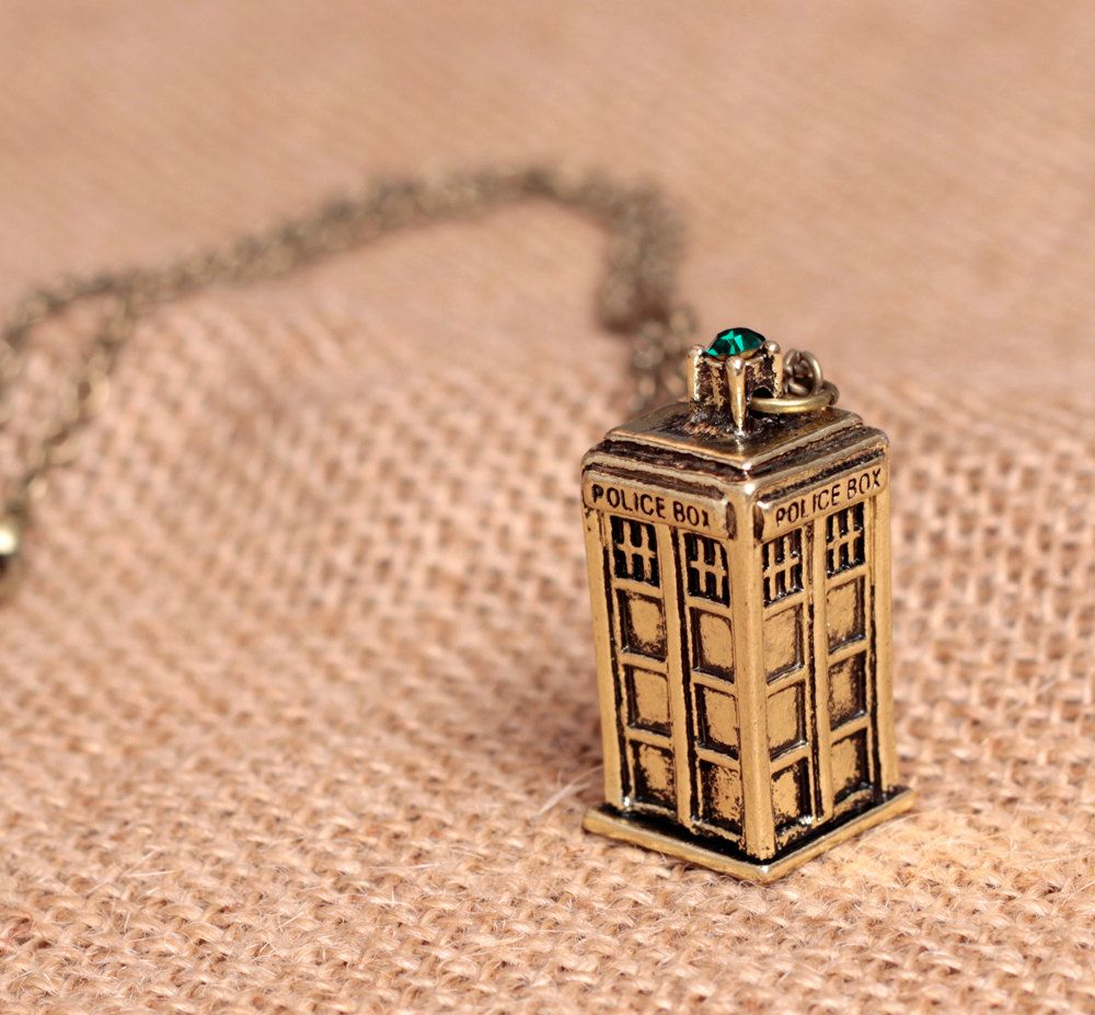 Doctor Who Necklace 3D Tardis jewelry by SurpriseCollection, $9.99