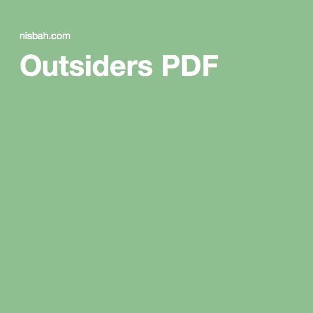 Outsiders Pdf The Outsiders Summer Reading Summer School The$outsiders,s.e.hinton 76 turn hard and tough. pinterest