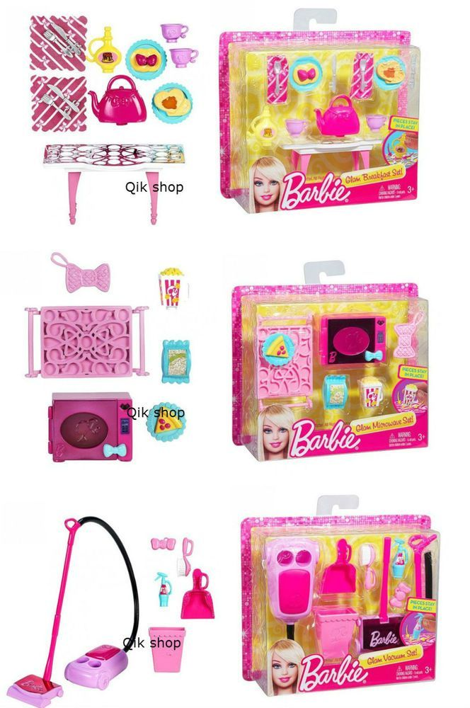Details about Barbie Home Accessories Set Microwave House