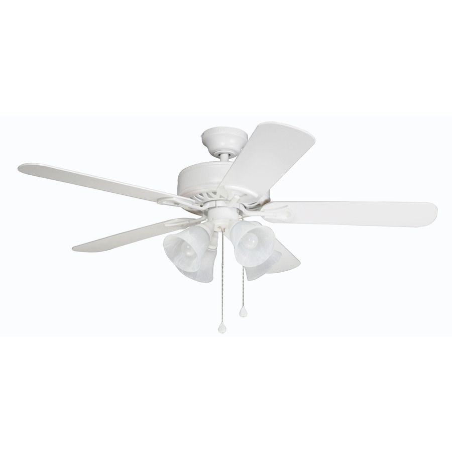 Shop Harbor Breeze Springfield Ii 52 In White Downrod Or Close Mount Ceiling Fan With Light Kit At Lowes Com Ceiling Fan With Light Ceiling Fan Fan Light