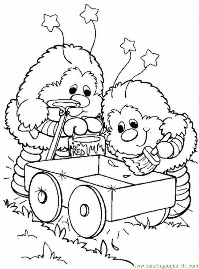 Rainbow Brite Coloring Pages Online Free Printable Coloring Page