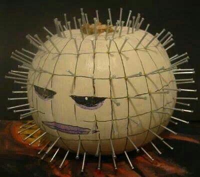 Pinhead jack'o'lantern