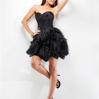 Elegant Sweetheart Organza layers flattering rushed bodice Prom Dress