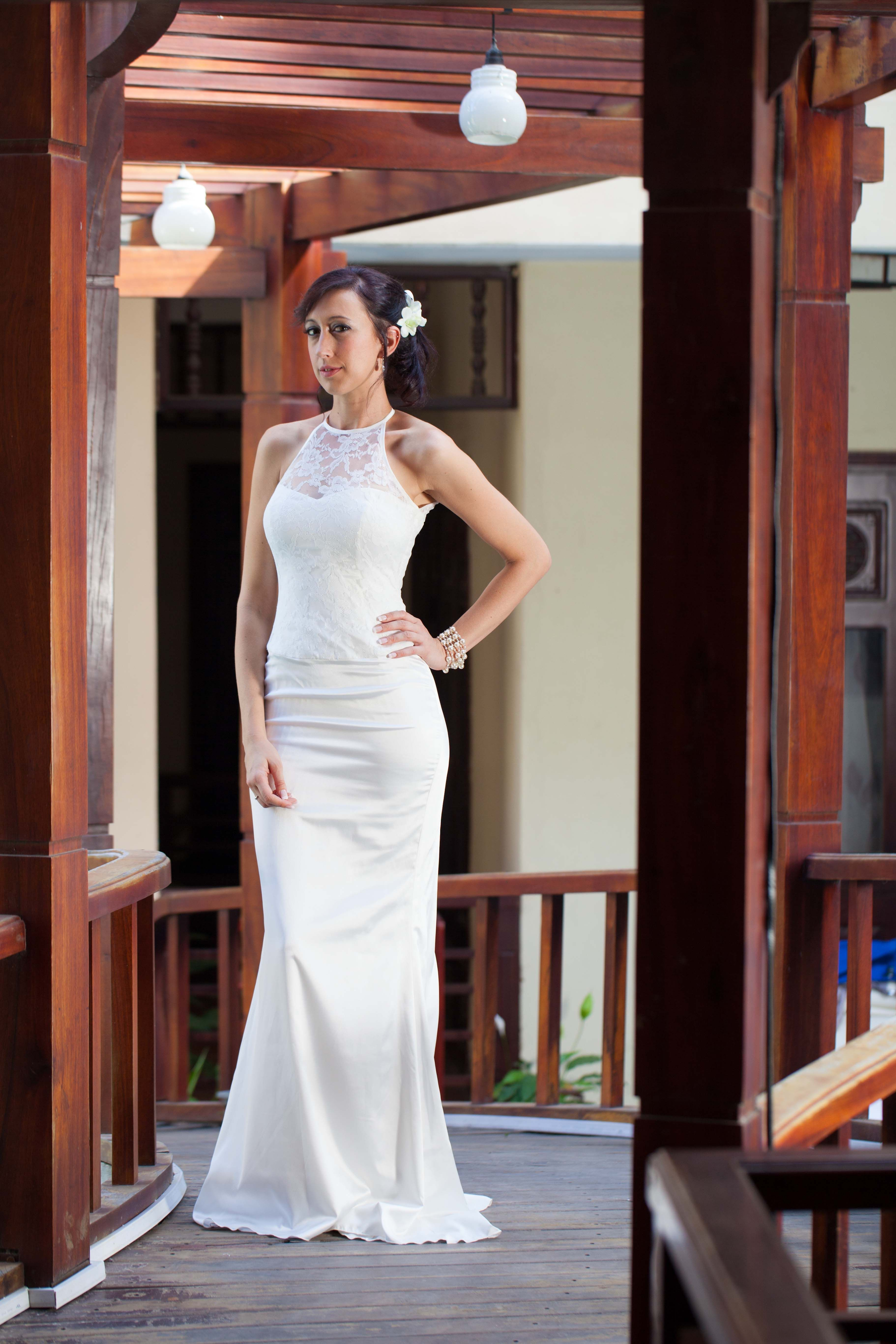 A Silk And Lace Wedding Dress Designed Tailored In Hoi An Simply Stunning