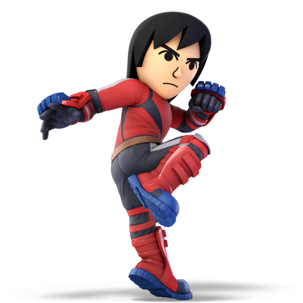 "Mii Brawler as he appears in Super Smash Bros  Ultimate  | ""Settle"