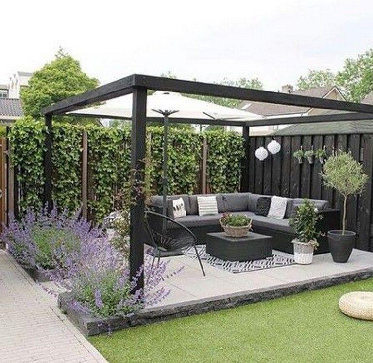 50 Stunning Modern Pergola Patio Ideas For Minimalist House Page 36 Of 51 Small Backyard Landscaping Small Backyard Patio Backyard
