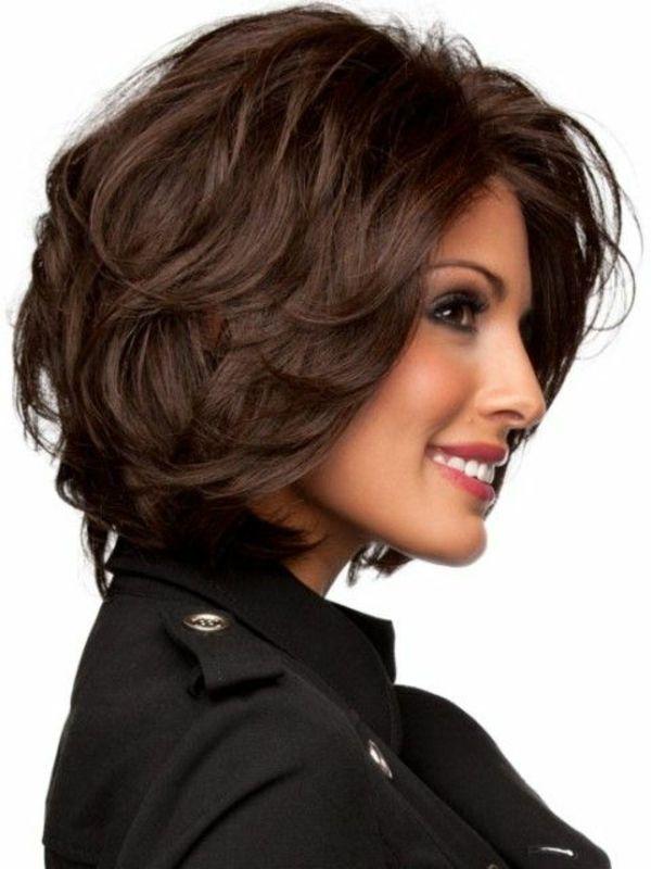 kurzes haar braun lockig weibliche frisuren | hairstyle