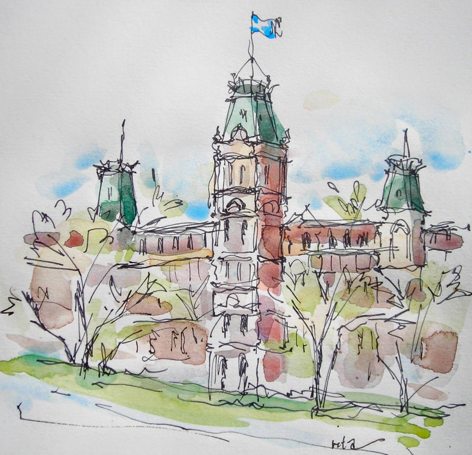 Quebec City Je T Aime Travel Sketches Sketch Book Urban Sketching